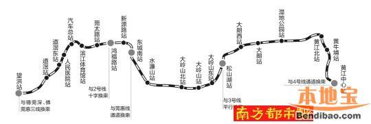 东莞地铁线路图   2030年将有4条