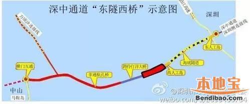 深中通道确定5个出口    中山4个 深圳1个