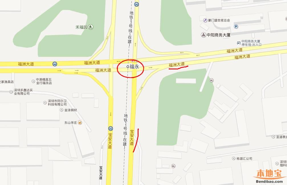 深圳地铁11号线福永站在哪里 地图 线路图图片
