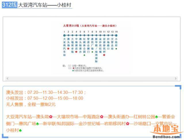 312线(大亚湾汽车站-小桂村)