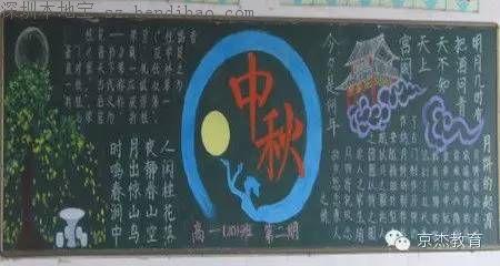 中秋节黑板报的花边设计图片大全