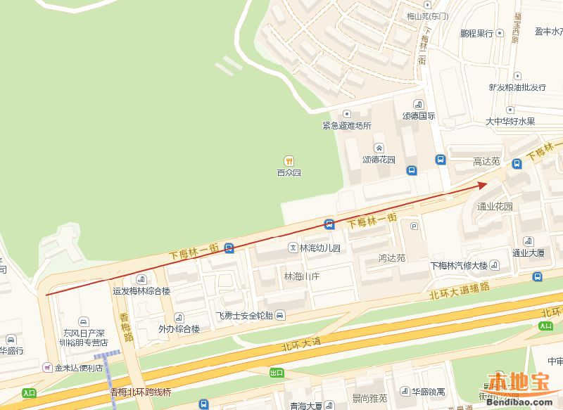 福田梅林一街潮汐车道启用 晚高峰自西向东通行