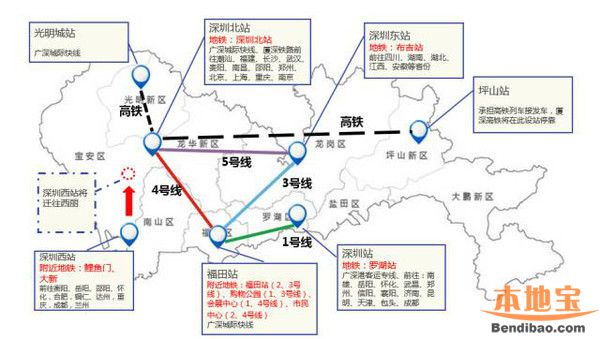 深圳第5个高铁站将建 3条地铁可达西丽枢纽