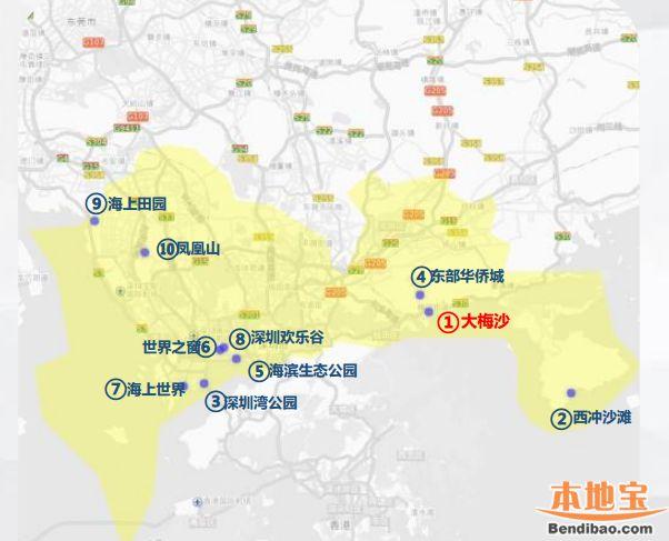 深圳国庆十大热门景点