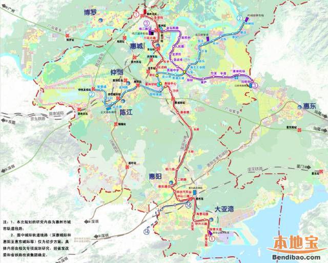 惠州地铁1号线2017年动工 未来深圳去惠城更便利