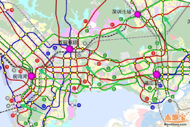 深圳地铁21号线 站点 线路图 开工开通时间 进展图片