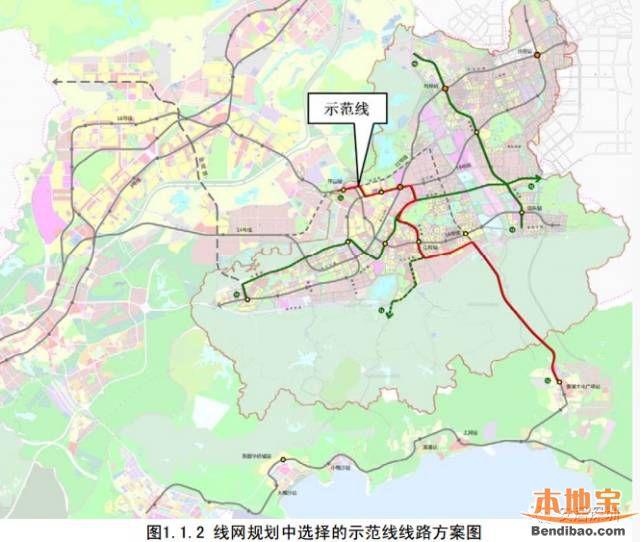 坪山云轨示范线一览(线路图、站点、开工时间)