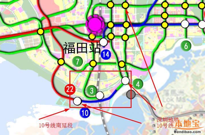 深圳地铁10号线详解 含南延、东延段线路