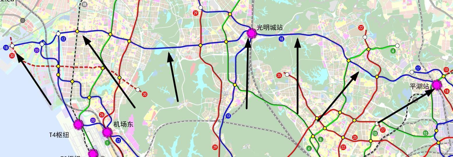 深圳地铁18号线(站点+线路图+开工开通时间+进展)
