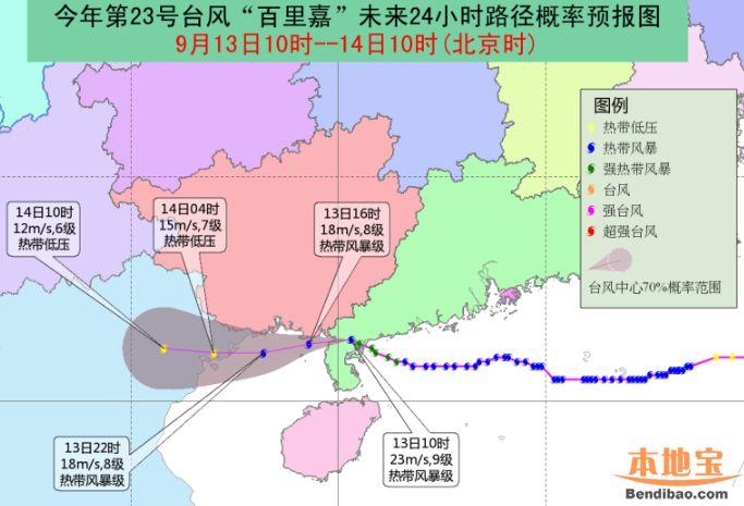 """23号台风""""百里嘉""""影响的列车调整信息汇总(含CDG)"""