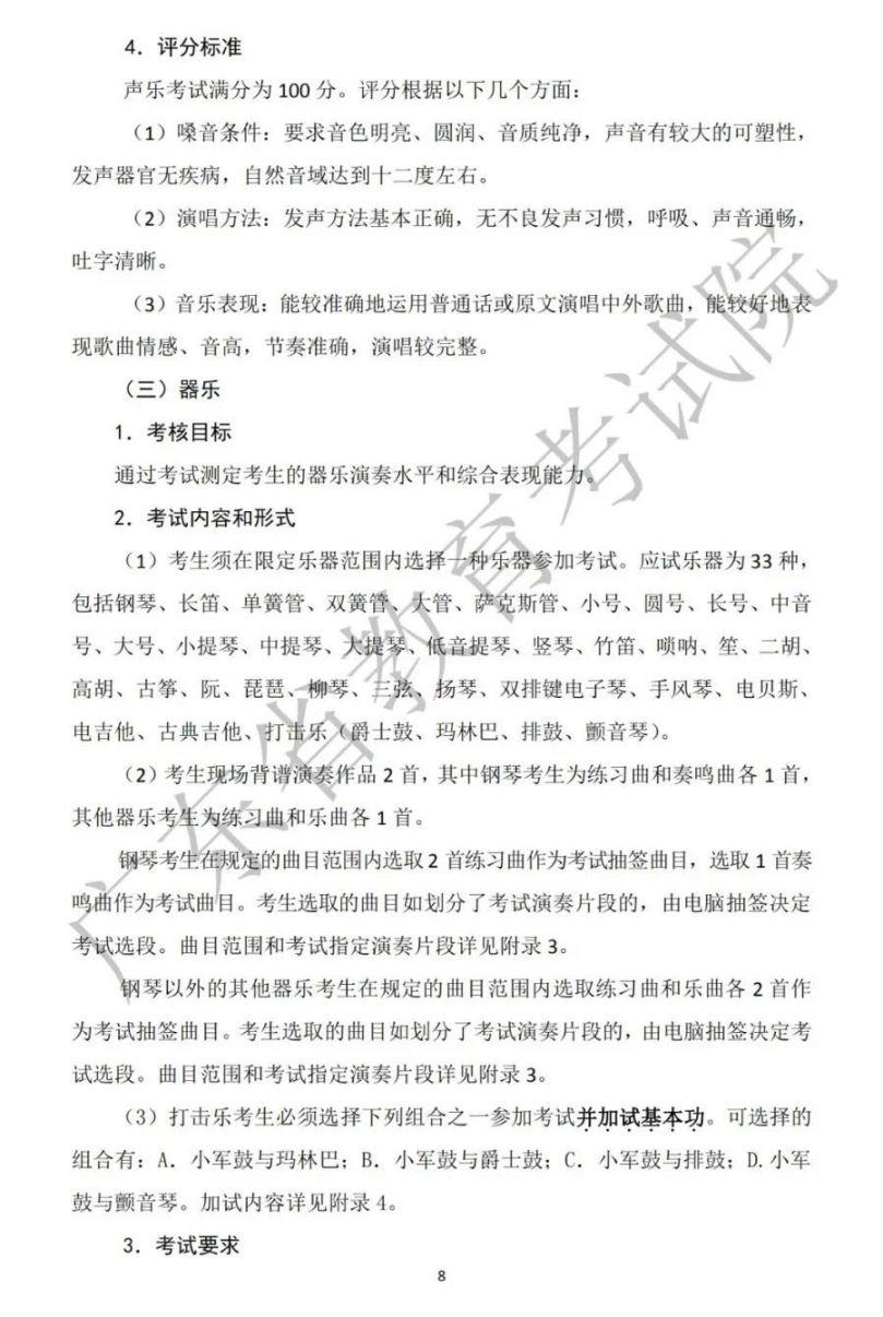 广东省2021年高考音乐术科考试说明 模拟系统操作手册
