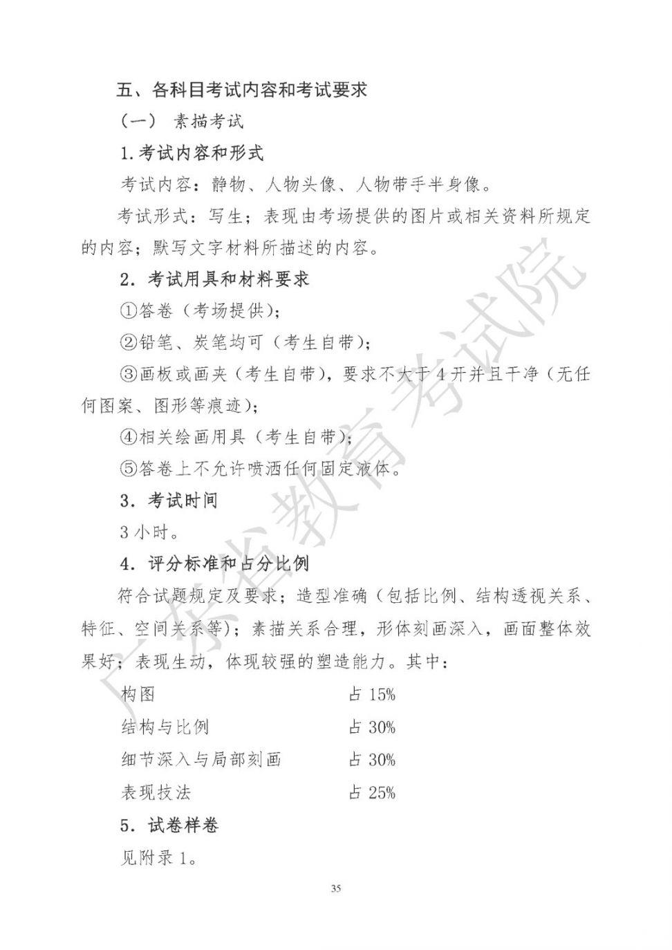 2021年广东省高考美术术科考试说明(含样卷)