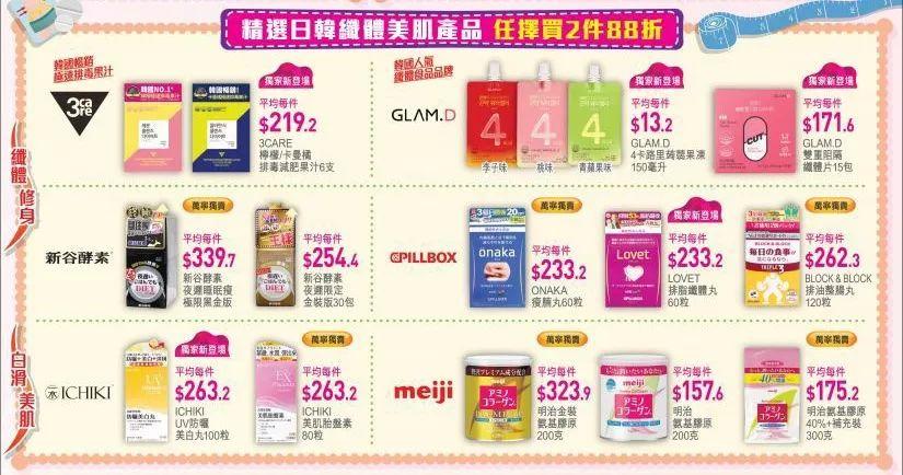 香港万宁门店每周优惠更新!护肤品 保健品 零食
