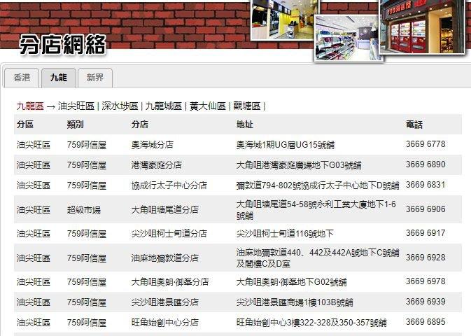 香港759阿信屋门店最新优惠!朱古力HK$105/2件(只01.26)