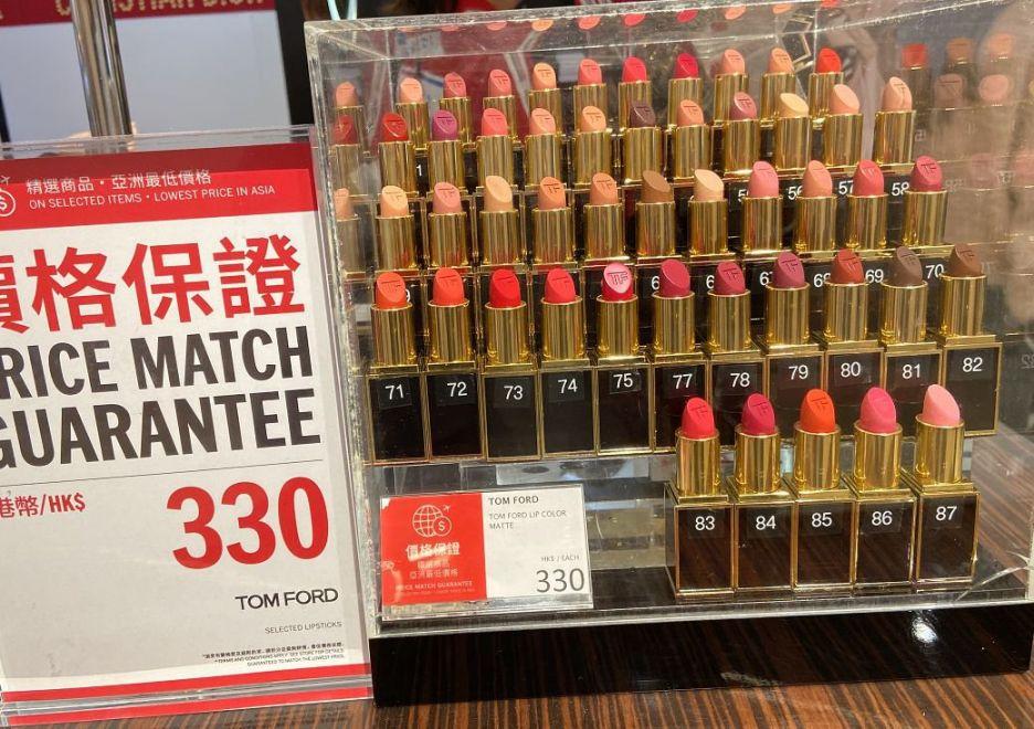 香港DFS免税店口红套装实拍!TF口红$330(1月份)