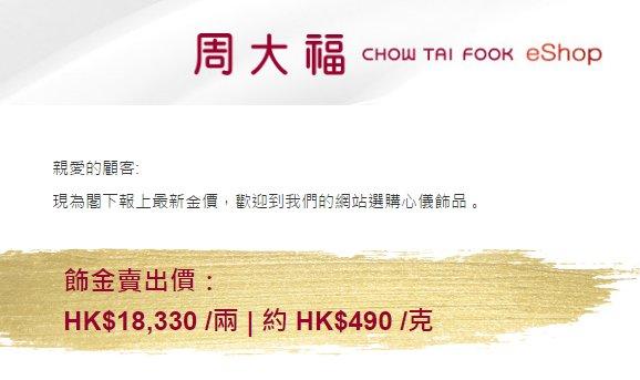 香港周大福门店今日金价最新情况(04.28)