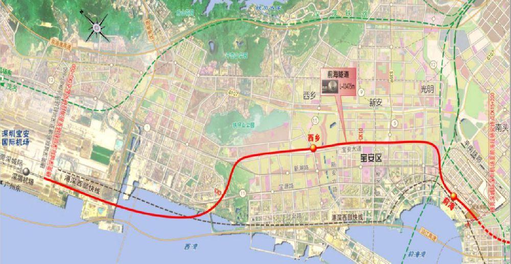 穗莞深城际铁路二期工程规划一览