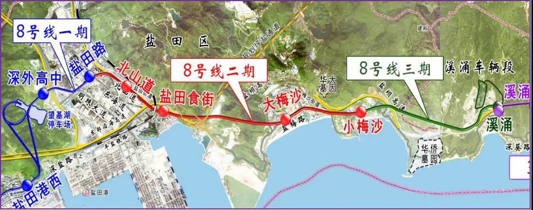 深圳地铁8号线二期最新建设进展