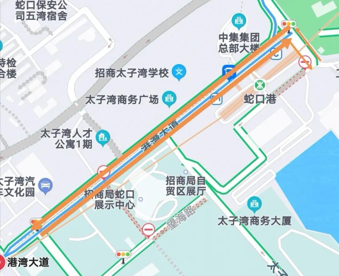 2020深圳南山港湾大道南海大道按时段封闭