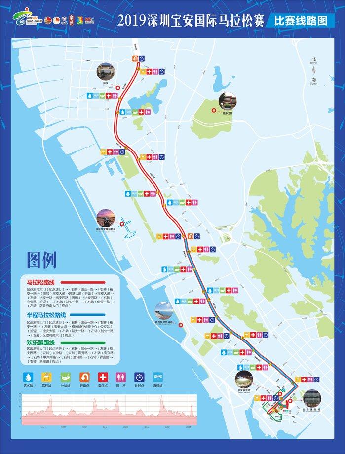 2019深圳宝安国际马拉松比赛路线