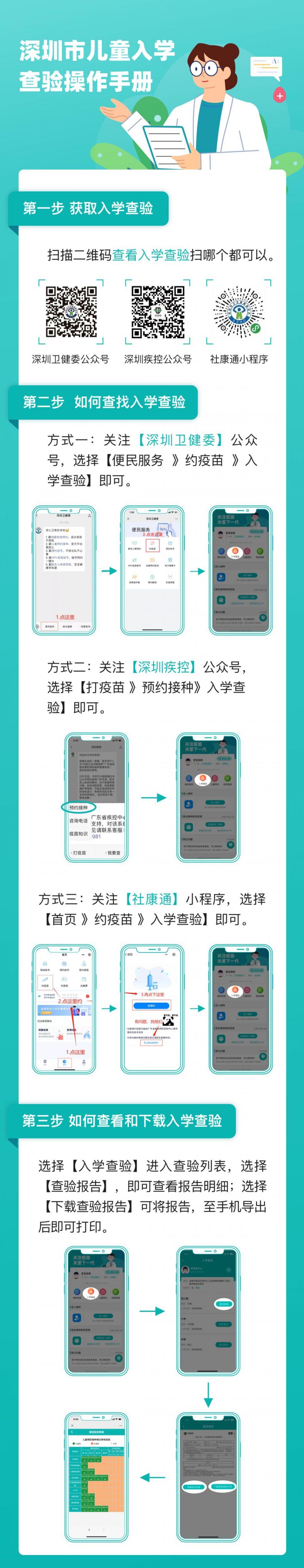 深圳市兒童入園入學證明查驗入口