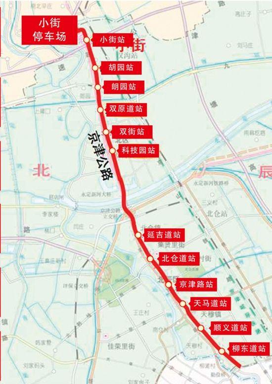 天津地铁4号线北辰段最新消息(线路图 站点 通车时间)图片