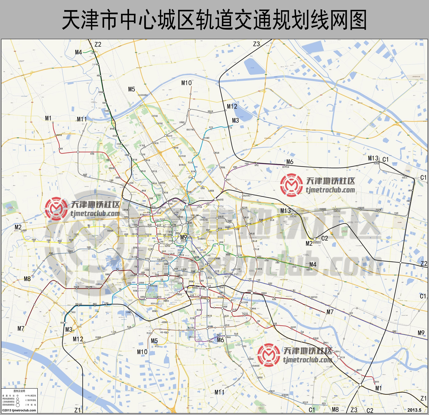 天津地铁13号线站点周边配套设施(交通+旅游+娱乐)