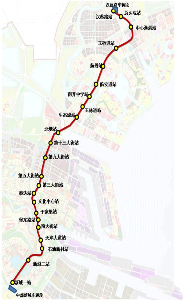 天津地铁z4线线路走向