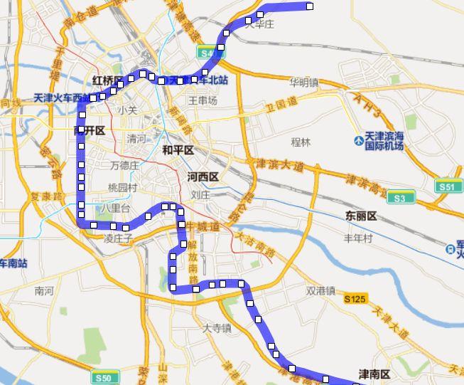 天津地铁6号线站点位置