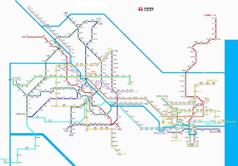 天津地铁z1线线路规划图片