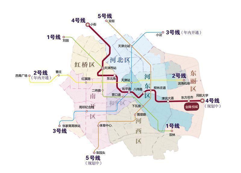 天津地铁4号线最新消息 线路图 站点 工程进度图片