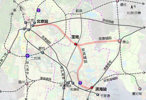 京唐城际铁路线路图