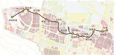 天津地铁Z2线一期工程站点设置