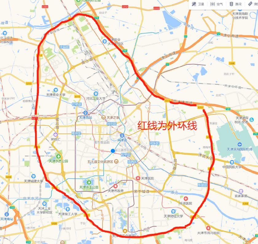 天津外环线限号吗?外环线未采取任何尾号限行政策