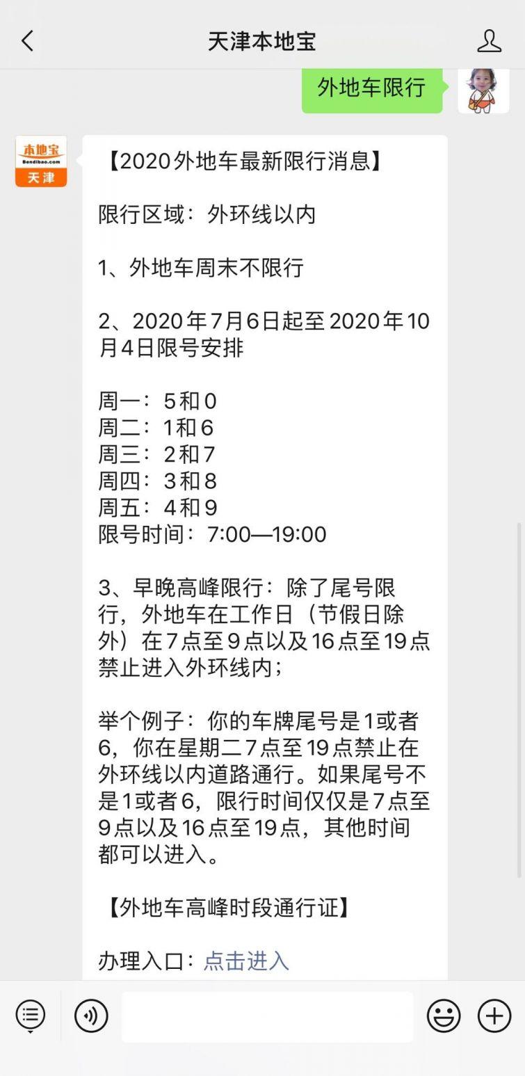 2020天津外地车限行最新规定(时间+区域+处罚标准)
