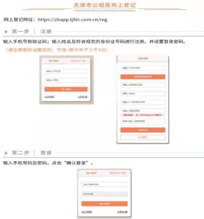 2021天津公租房網上登記流程圖