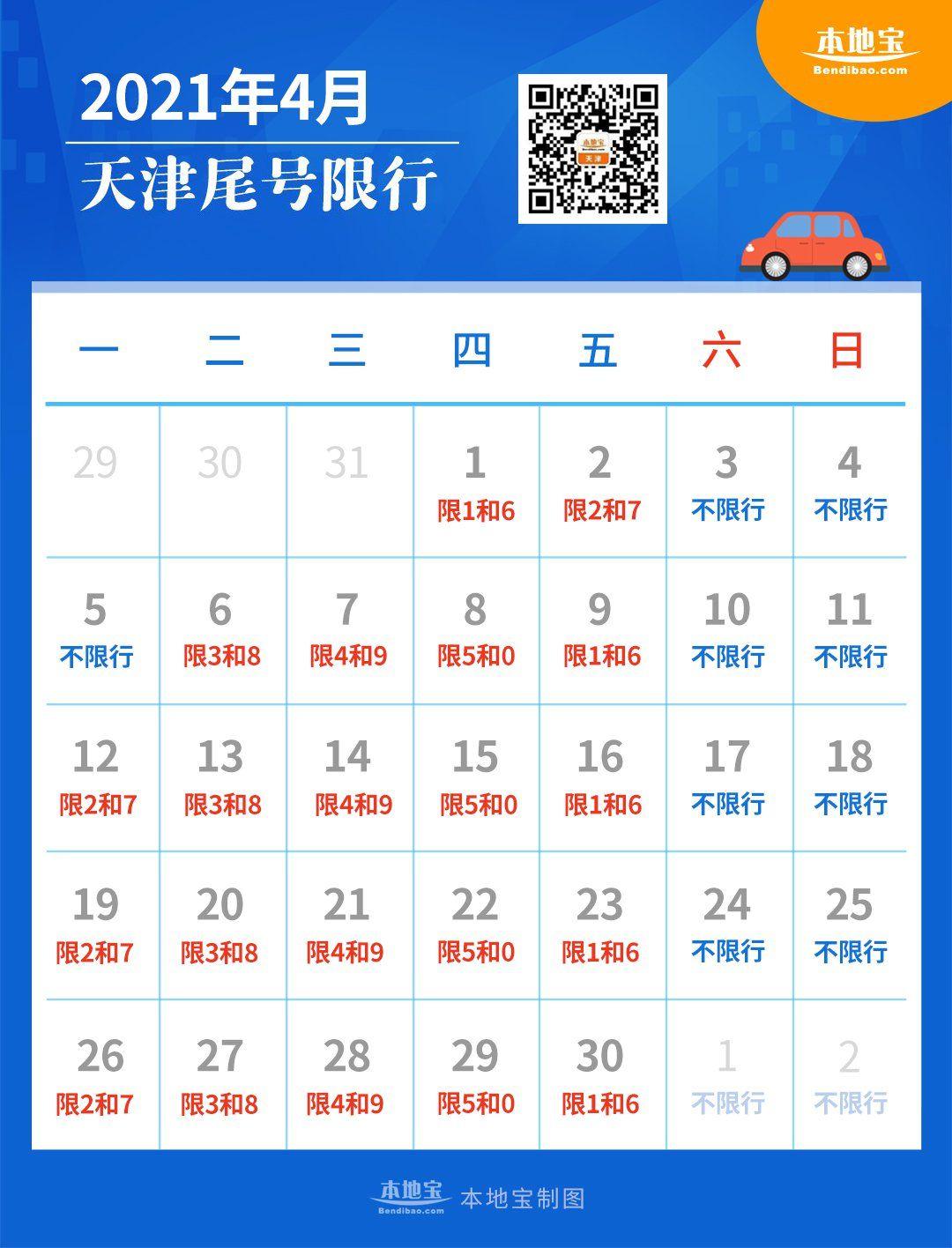 天津限號最新消息2021:天津限行尾號查詢+限行時間表