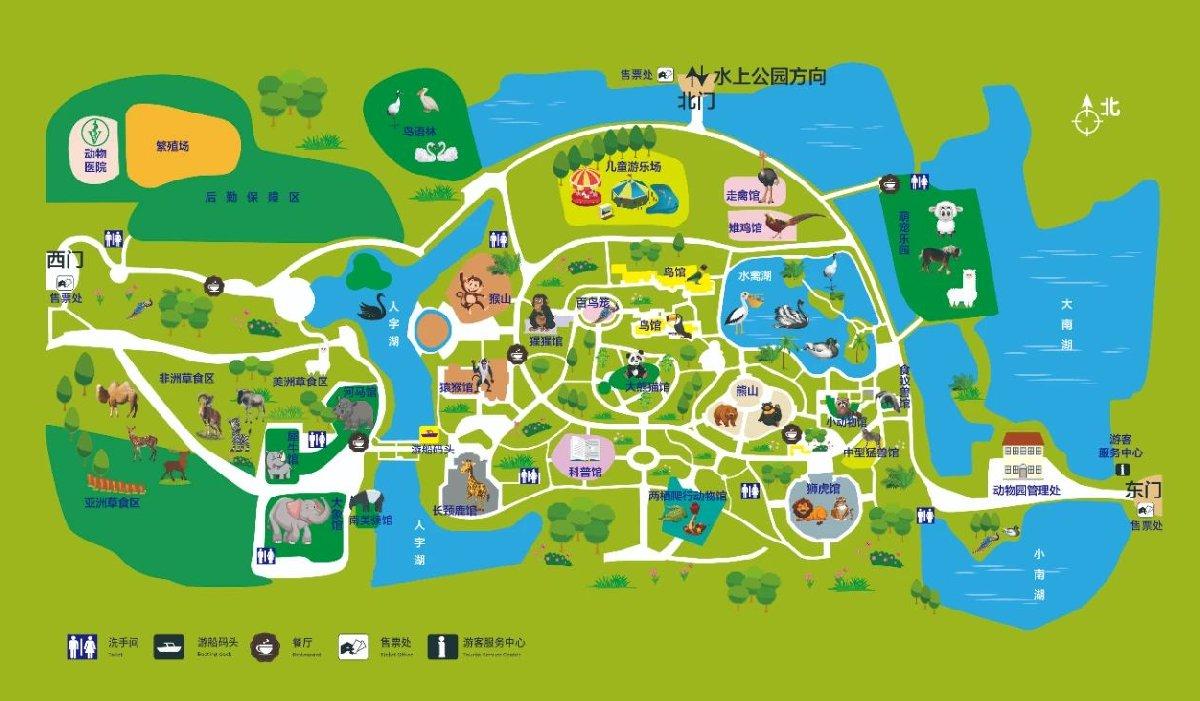 天津動物園景區地圖