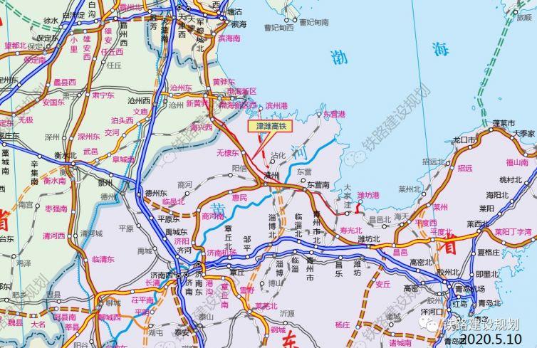 天津至潍坊(烟台)铁路线路方案