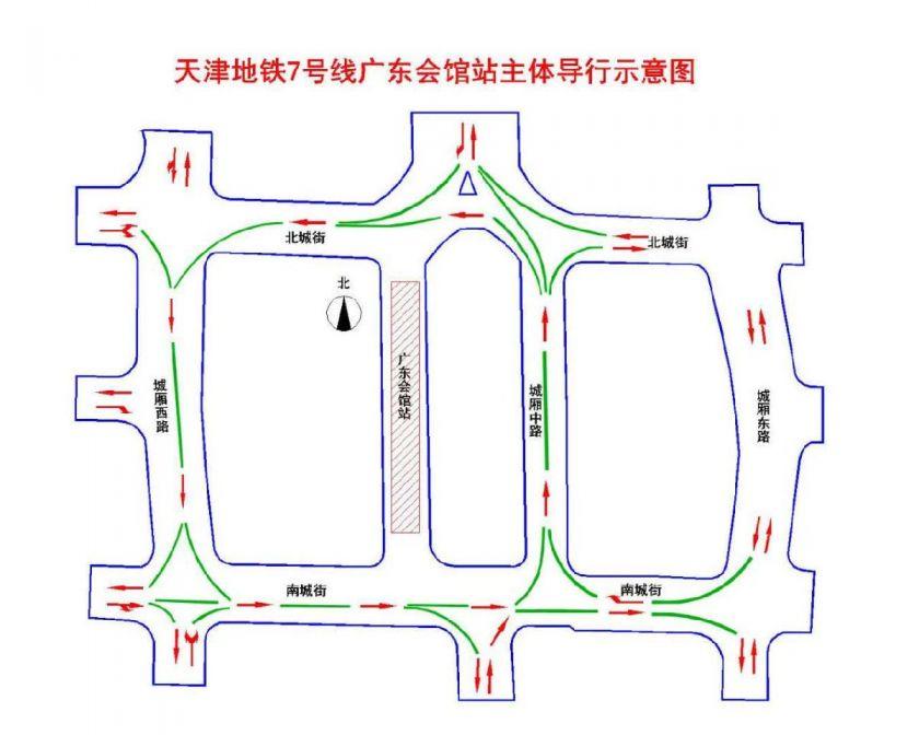 天津地鐵7號線施工道路變化匯總
