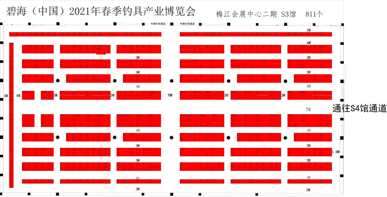2021天津漁具展時間 展位分布圖