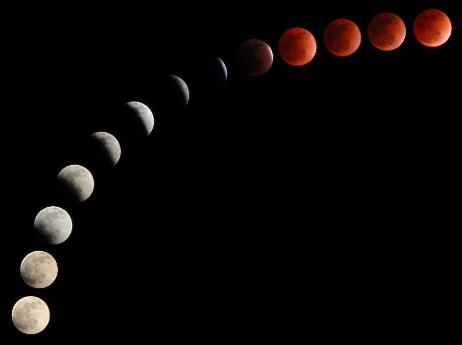 血月2021出現準確時間(超級紅月亮)