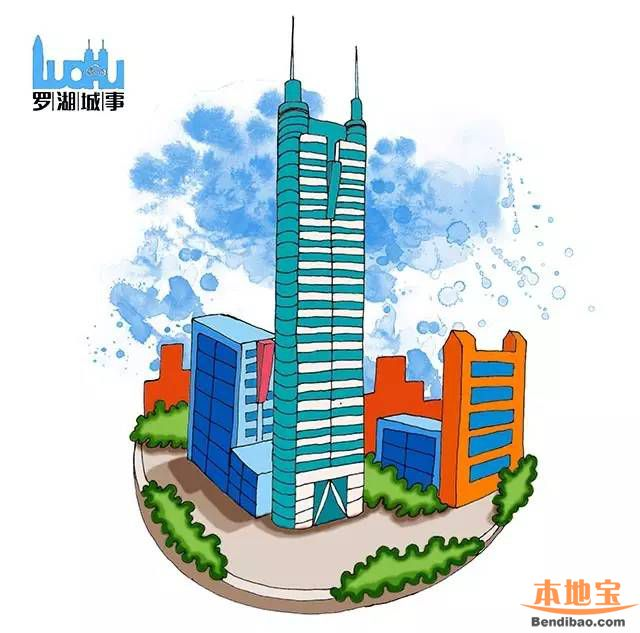 罗湖地标建筑手绘图 换个角度看罗湖(图) - 深圳本地宝
