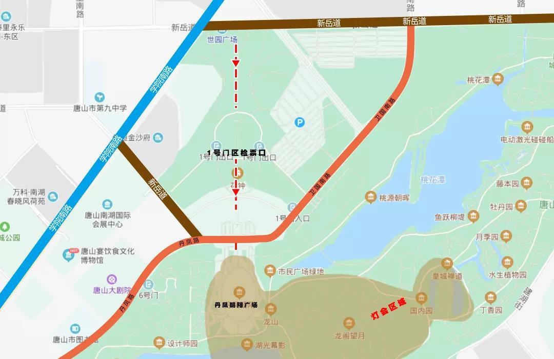 2020唐山南湖春節燈會哪里可以停車