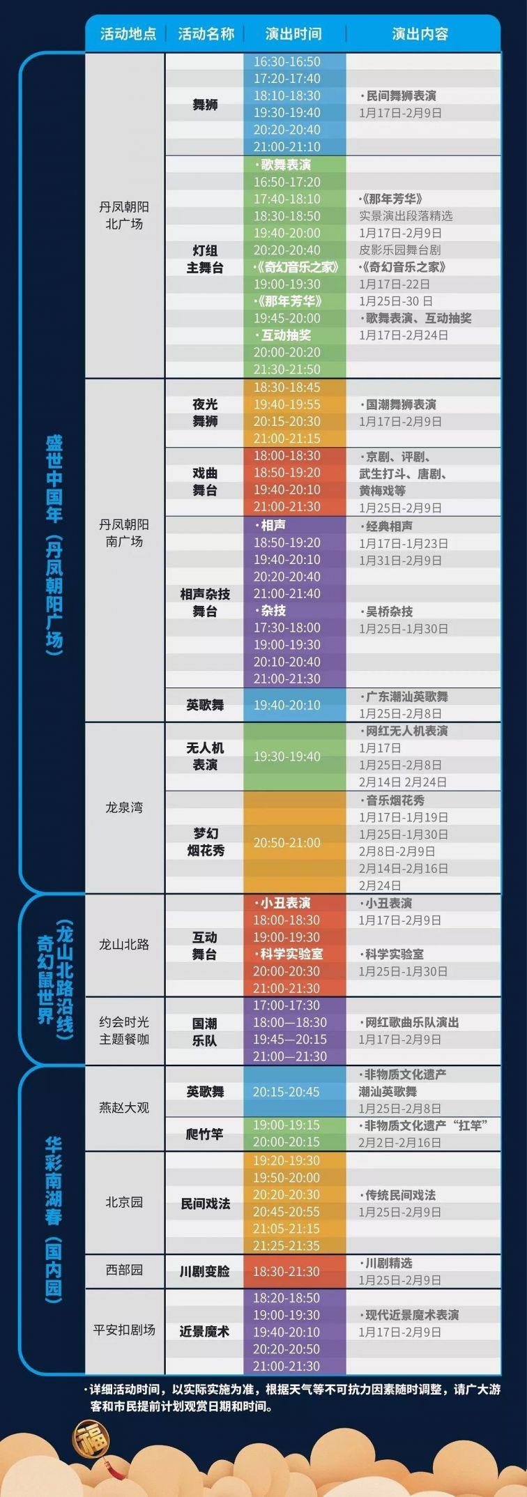 2020老虎机游戏:南湖春节灯会节目表