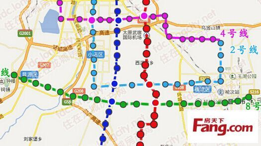 太原地铁8号线线路图图片