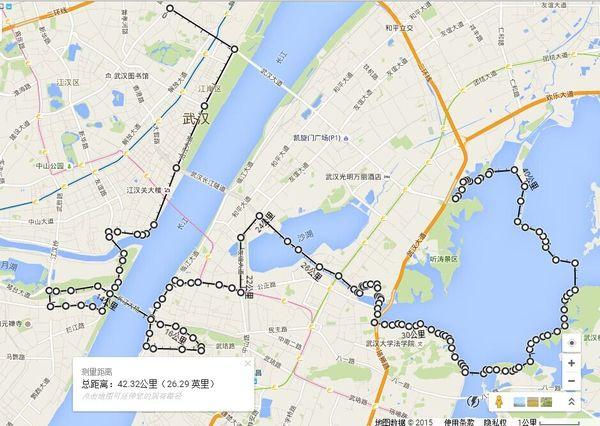 体育新闻 2016武汉马拉松赛事时间及线路(图示)    终点:武汉欢乐谷图片