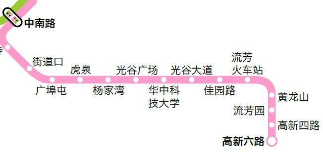 武汉地铁2号线南延长线线路图图片
