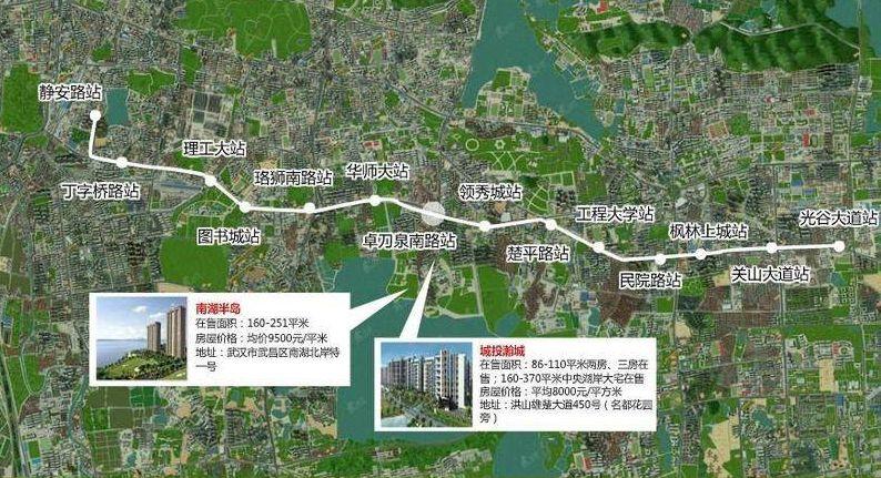 武汉brt1号线路图图片