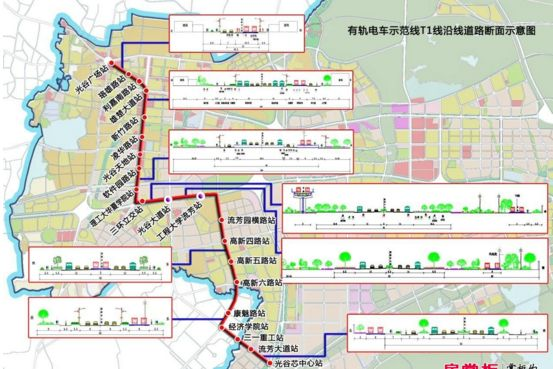 武汉有轨电车T1沿线站点